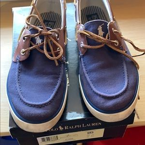 Polo by Ralph Lauren boat shoes size 9D